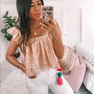 Cropped Top in Pink